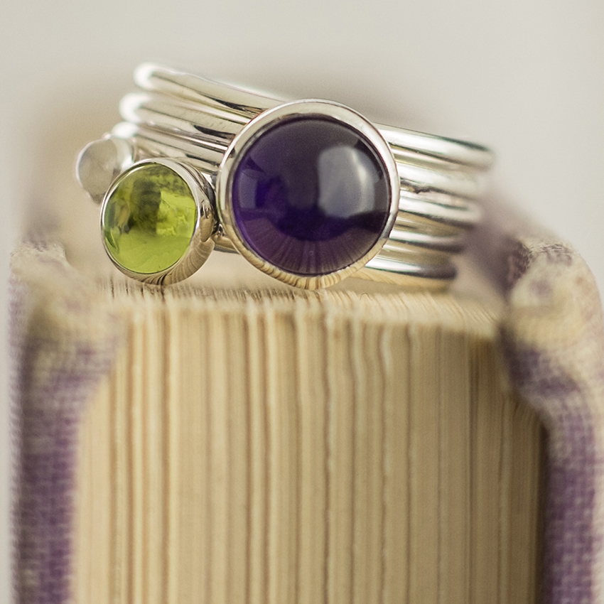 Alison Moore handmade stackable ring product shot